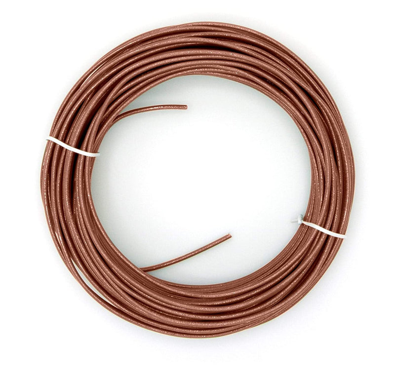 Brown THHN Wire - 14 AWG - 150 Feet - Solid Copper Grounding Wire, Proudly Made in America - Ground Protection Satellite Dish Off-Air TV Signal - UV Jacketed Antenna Electrical Shock