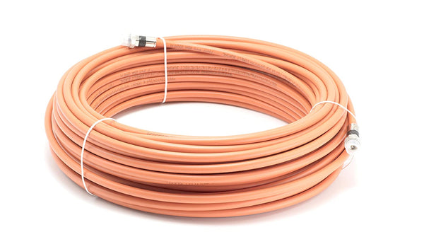 Direct Burial Wire DirecTV - RG6 Coaxial Cable 200FT |Orange| with WEATHER BOOT