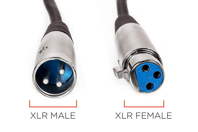 Extension Cable for Microphone | XLR Male to XLR Female Cable | 3P, 3 feet