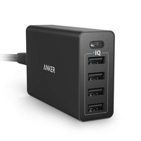 ANKER PowerPort 5 Ports USB-C (The High-Speed 5-Port USB/USB-C Charging Hub)