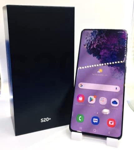 Samsung S20+<br>(128GB/8GB RAM)<BR>Color: Cosmic Black<br>(SKU: U726)