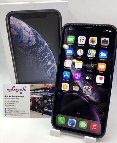 Apple iPhone XR<br>(128GB/3GB RAM)<BR>Color: Black<br>(SKU: U756)