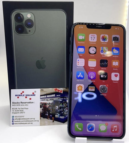 Apple iPhone 11 Pro Max<br>(512GB/4GB RAM)<BR>Color: Midnight Green<br>(SKU: U760)