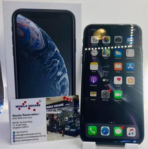 Apple iPhone XR<br>(128GB/3GB RAM)<BR>Color: Black<br>(SKU: U766)