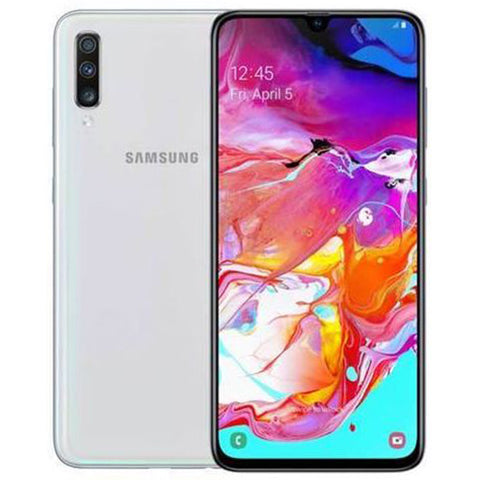 "Samsung Galaxy A70<BR>(128GB/6GB RAM)<p style=""color:#FF0000"";>New Arrival!</p>"