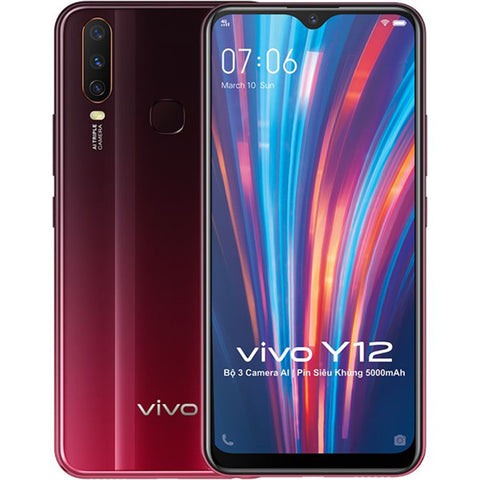 Vivo Y12<br>(64GB/3GB RAM)<br>Free! Vivo Gift Pack<br>Call For Best Price!<br>2 Years Local Warranty