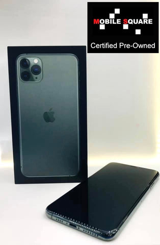 Apple iPhone 11 Pro Max<br>(256GB/4GB RAM)<BR>Condition: Used<BR>Color: Midnight Green<br>(SKU: U130)