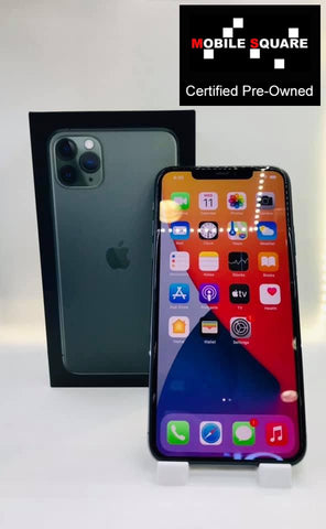 Apple iPhone 11 Pro Max<br>(64GB/4GB RAM)<BR>Condition: Used<BR>Color: Midnight Green<br>(SKU: U180)