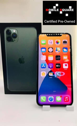 Apple iPhone 11 Pro Max<br>(256GB/4GB RAM)<BR>Condition: Used<BR>Color: Midnight Green<br>(SKU: U187)