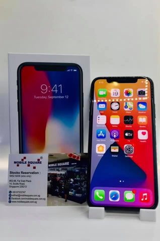 Apple iPhone  X<br>(256GB/3GB RAM)<BR>Color: Space Gray<br>Battery Health: 87%<br>(SKU: U768)