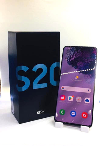 Samsung S20+<br>(128GB/8GB RAM)<BR>Color: Cosmic Black<br>(SKU: U724)
