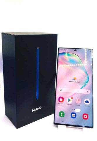 Samsung Note 10+<br>(256GB/12GB RAM)<BR>Condition: Used<BR>Color: Aura Glow<br>(SKU: U738)