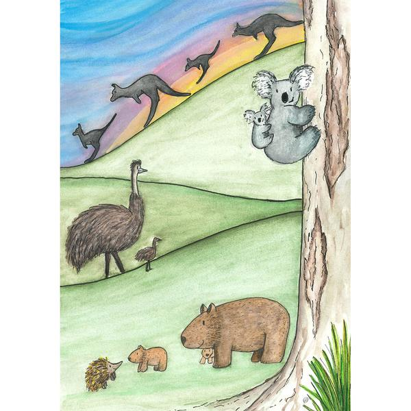 Prints -  A5 Whimsical Wildlife Prints