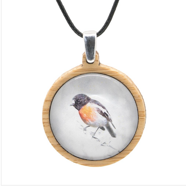 Sustainable Bamboo Pendants with Bird Photography