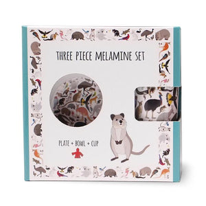 Melamine Three Piece Set - 101 Collective Nouns