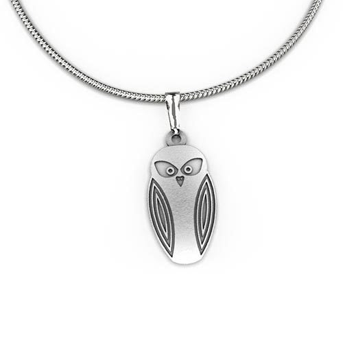 Stainless steel Wildlife Pendant & Necklace - Allegria Designs