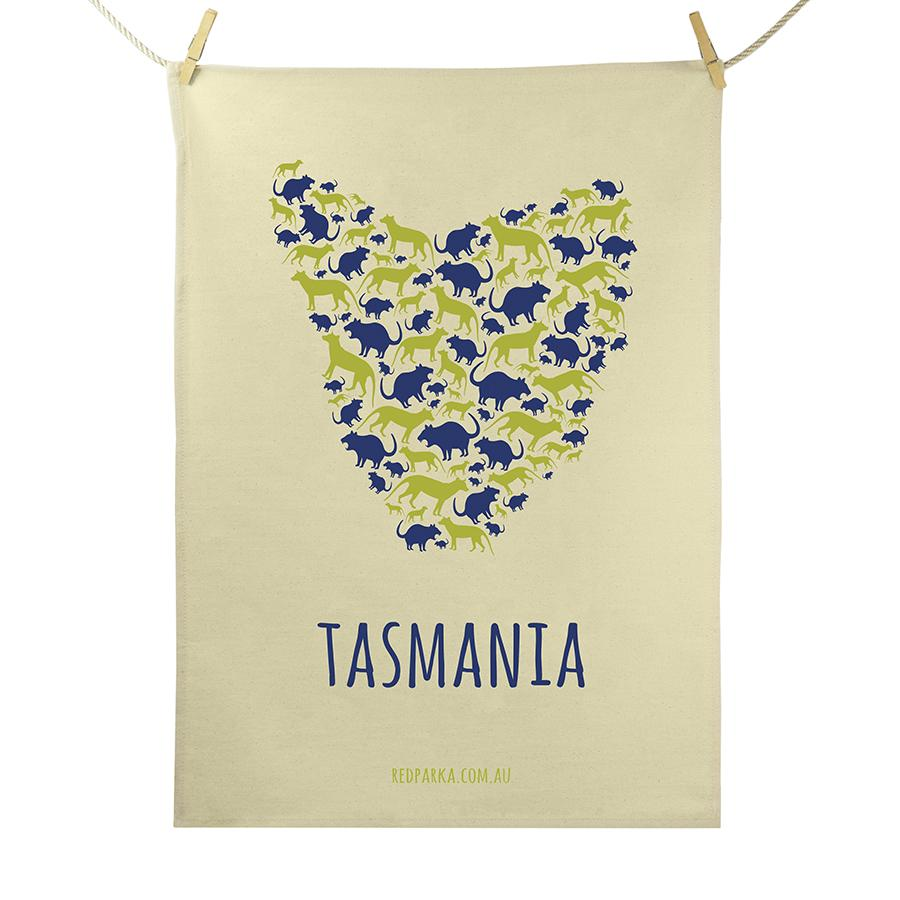 Map of Tas Tea Towel