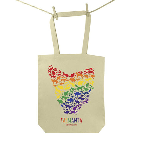 Rainbow Map of Tas Tote Bag