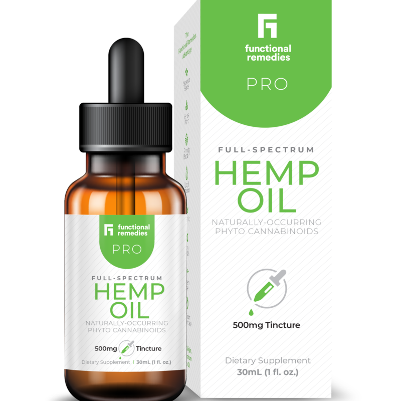 Functional Remedies Pro Full-Spectrum Hemp Oil 500mg