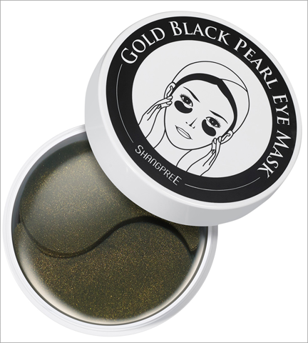 Shangpree Gold Black Pearl Eye Mask