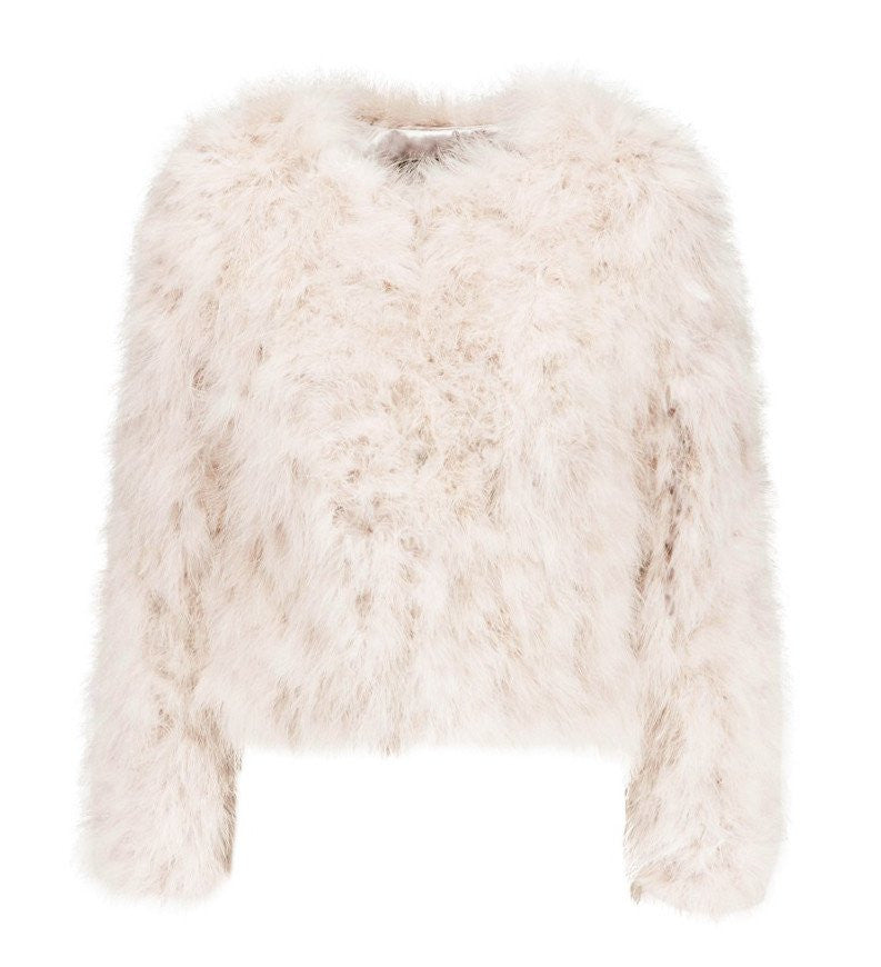 Harper Feather Jacket - Light Beige