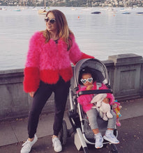 Mummy and Mini Matching Feather Jackets