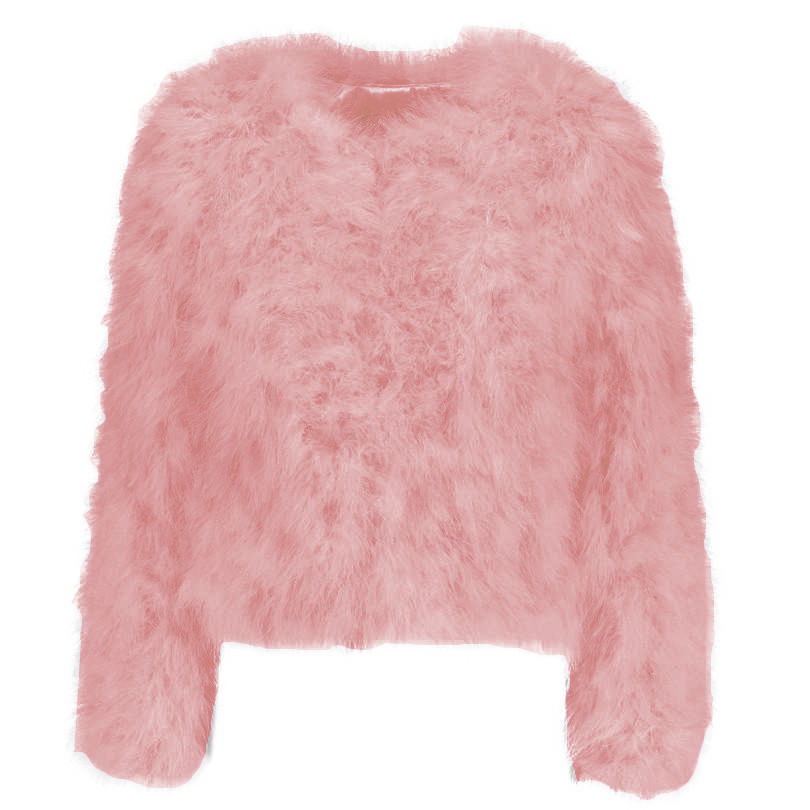 Blush pink ostrich feather jacket