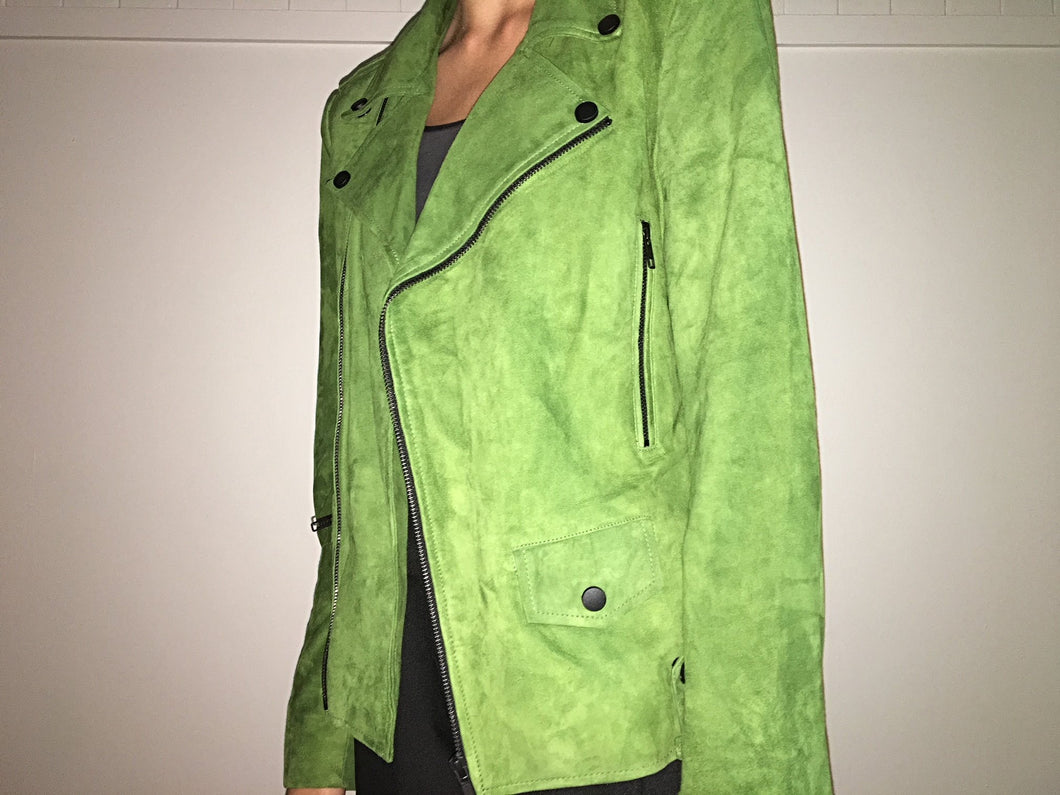 Calista Suede Jacket - Green Envy