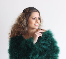 Harper Feather Jacket -Emerald Green