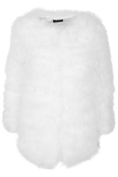 Isla Feather Jacket - White