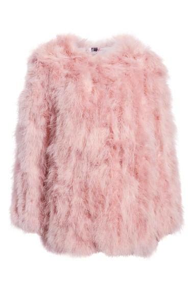Isla Feather Jacket - Blush Pink