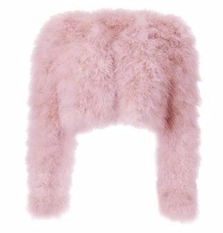 Kendall Feather Jacket - Baby Pink
