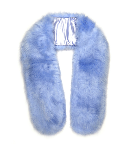 Faux Fur Stole - Baby Blue