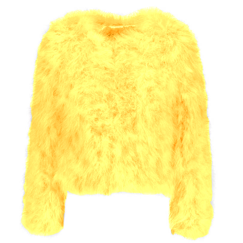 Harper Feather Jacket - Yellow
