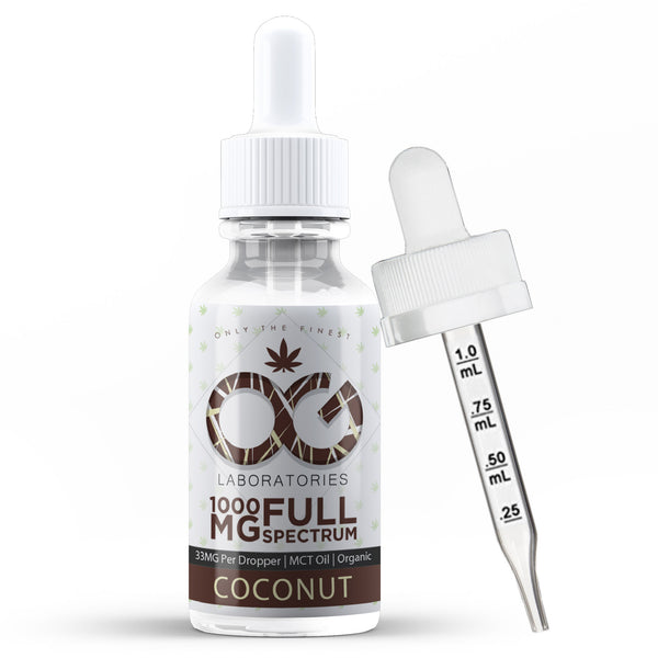 OG CBD Oil Tincture - Coconut - OG Laboratories