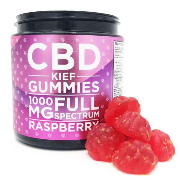 OG CBD Kief Gummies - Raspberry - OG LABORATORIES