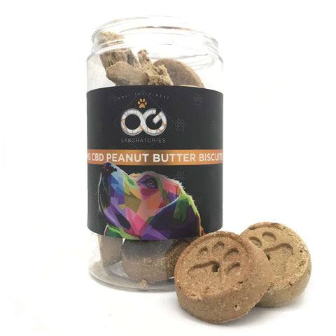 OG CBD Pet Treats - Peanut Butter Biscuits