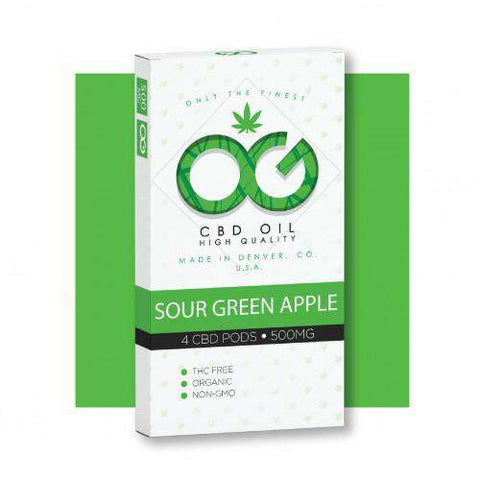 OG CBD Sour Green Apple Pods (Pack of 4)