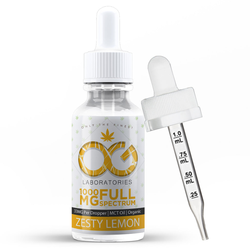 OG CBD Oil Tincture - Zesty Lemon
