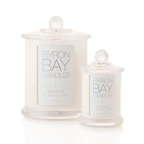 Byron Bay Candle Bamboo & White Lily