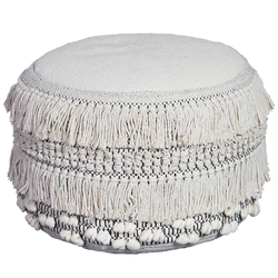 Salt & Pepper Tassel Pouffe