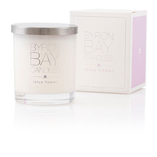 Byron Bay Candle Lotus Flower