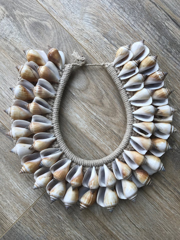 Caramel Shell Necklace
