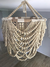 Load image into Gallery viewer, Wooden Bead Chandelier