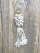 Load image into Gallery viewer, Cowrie Shell Key Ring + Tassel