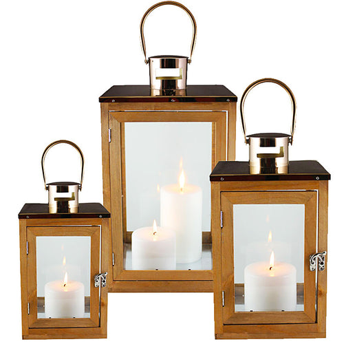 Barwon Lantern Set of 3 Rose Gold