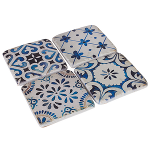 Resin Drink Coaster Set Morocco