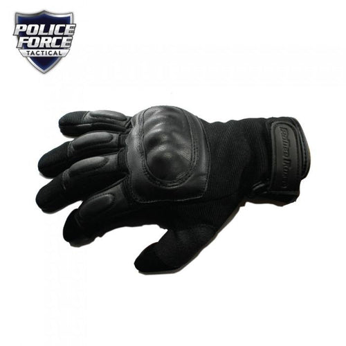 Police Force Hard Knuckle Tactical Gloves L - RNO SECURITY PRODUCTS