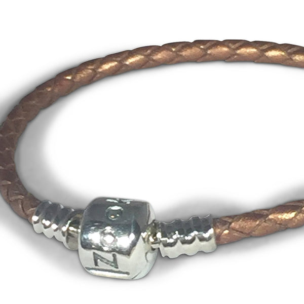 Golden Brown Leather Bracelet bracelet - Zookkie Pty Ltd