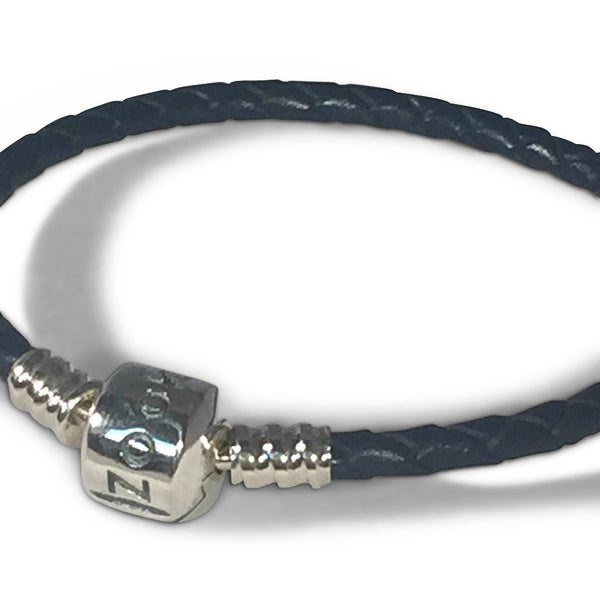 Dark Blue Leather Bracelet bracelet - Zookkie Pty Ltd